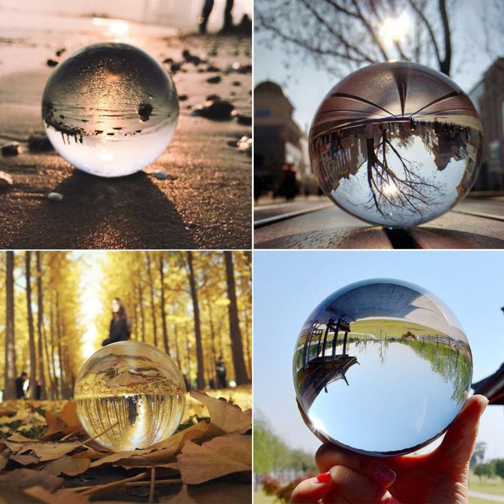 40-80mm Clear Glass Crystal Ball Healing Sphere Photography Photo Props Gift UK