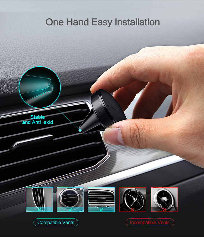 magnetic car  phone holder for air vent (3)