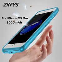 ZKFYS chargeur sans fil Clip arrière batterie externe pour iPhone XS MAX 5000 mAh batterie de secours externe boîtier de charge rapide