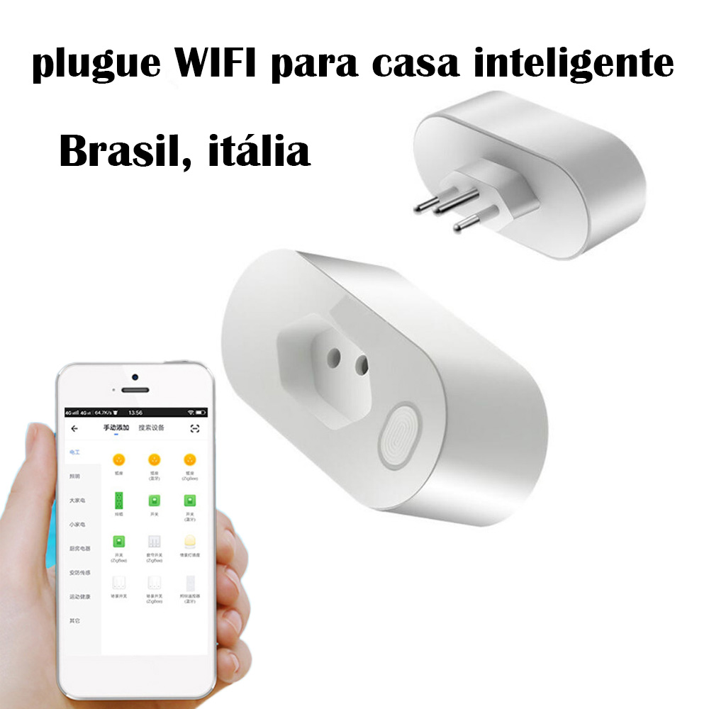 Image 2 - brazil products Smart home smart remote control products WIFI smart automation regulation row plug Brazilian gauge WIFI plug-in Smart Remote Control from Consumer Electronics