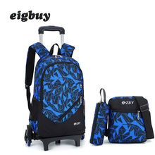 Backpack Latest Removable Children School Bags With 2/6 Wheels Stairs Boys Girls Trolley Schoolbag Luggage Book Bags Kids Bag kids boys girls trolley schoolbag luggage book bags backpack latest removable children school bags with 2 wheels stairs