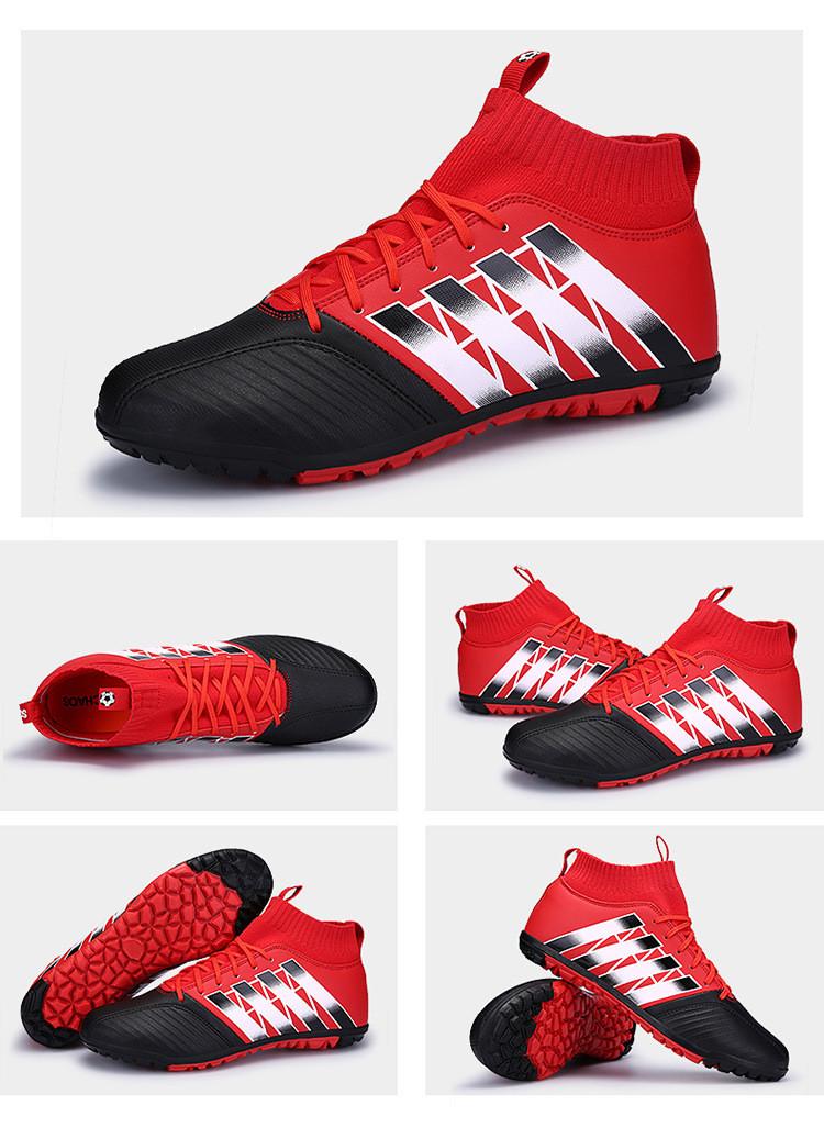 92568567ff6be ... zhenzu Eur size 35-44 Men Kids Superfly Original High Ankle Football  Boots Turf Cheap ...