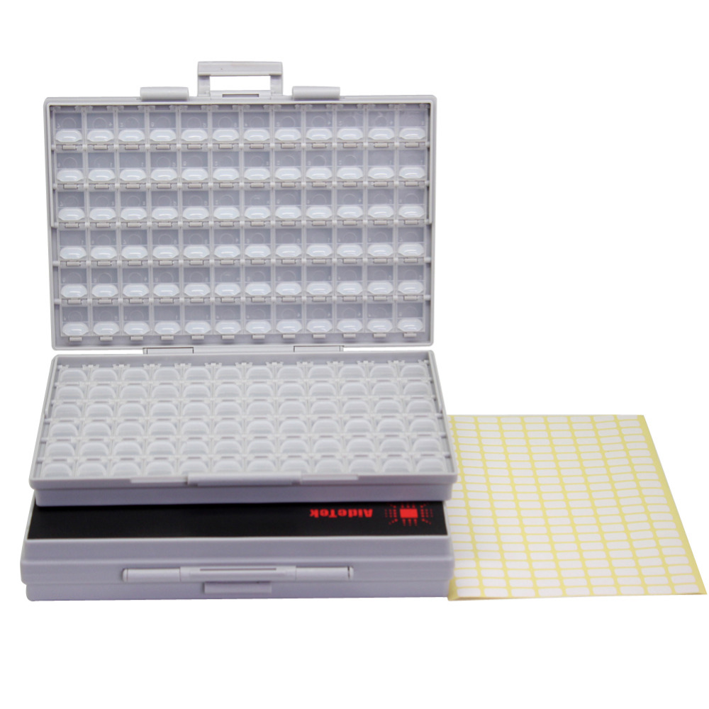 AideTek BOXALL Enclosure box 4surface mount SMD SMT 0805 0603 0402 components Electronics Storage Cases & Organizers 2BOXALL aidetek 4 units of box all 144 enclosure for surface mount components 1206 0805 0603 0402 0201 size plastic part box 4boxall
