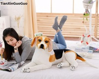 large 60cm lying beagle dog plush toy soft doll throw pillow birthday gift s0182