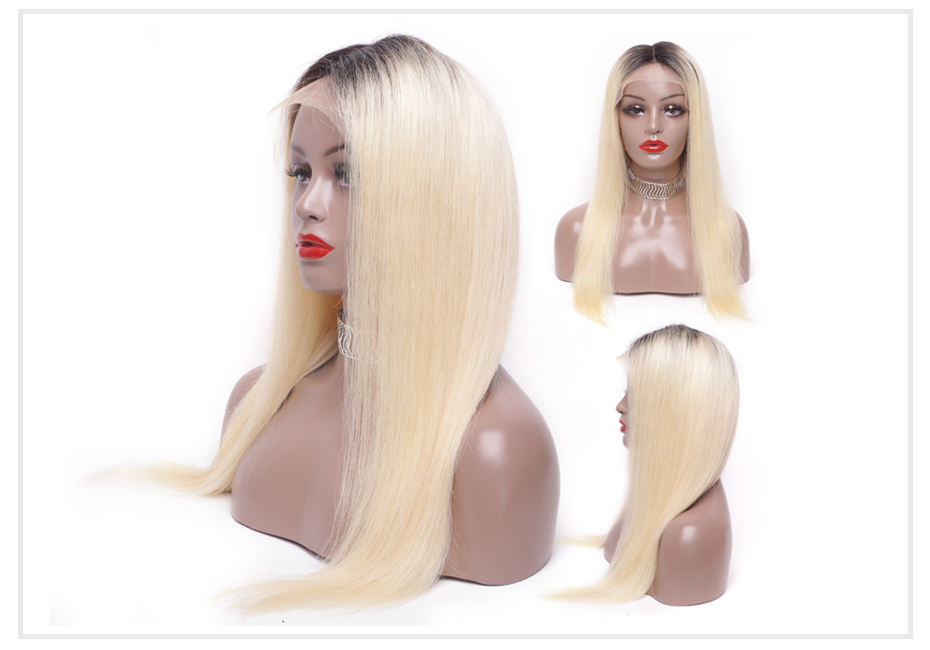 ombre blonde Lace Front Wig1