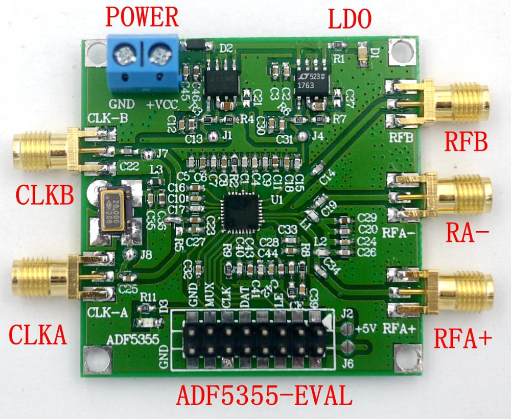 Site officiel ADF5355, configuration PC PLL, source RF 54, MHz-13600, MHz