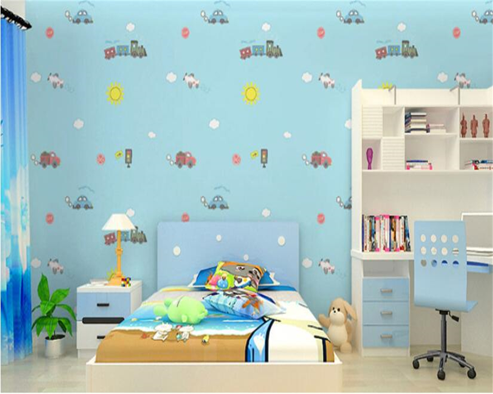 papel de parede Kids Room 3D Wallpaper Roll cute boy girl bedroom wallpaper car cartoon wall paper home decor Beibehang beibehang classic cute cartoon plain paper papel de parede 3d wallpaper children room kids room bedroom tv background wall paper