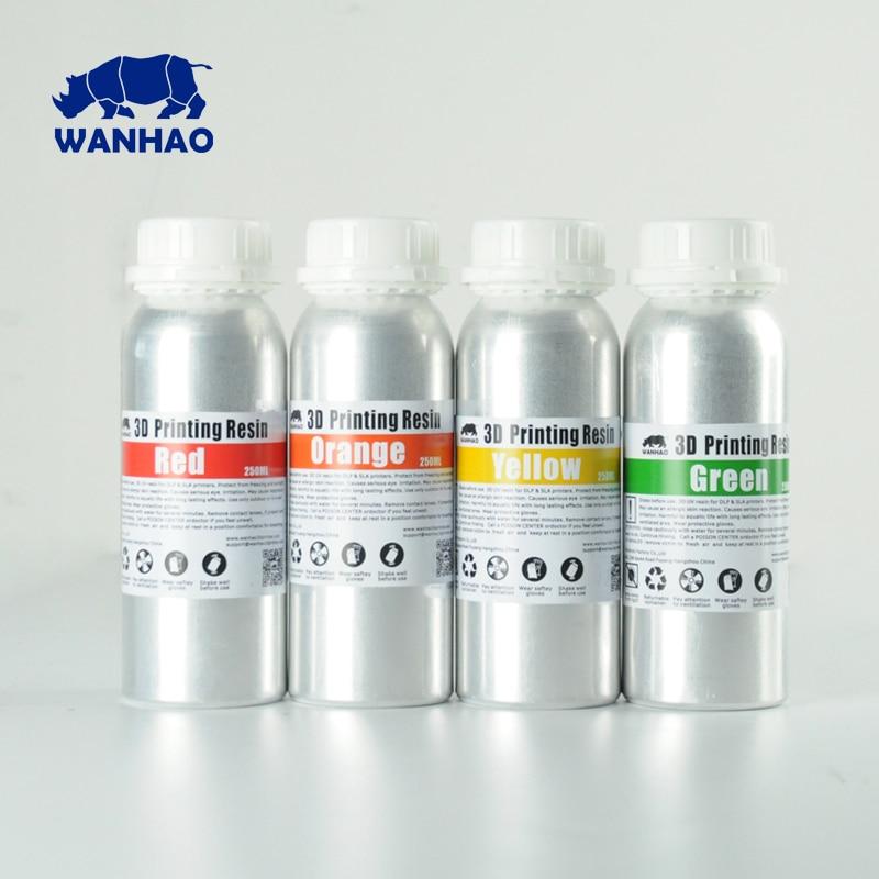 WANHAO 405NM UV Photopolymer Resin for D7 SLA DLP 3D Printer New Aluminium 250ml 500ml 1000ml bottle 8 colors for choose WANHAO 405NM UV Photopolymer Resin for D7 SLA DLP 3D Printer New Aluminium 250ml 500ml 1000ml bottle 8 colors for choose