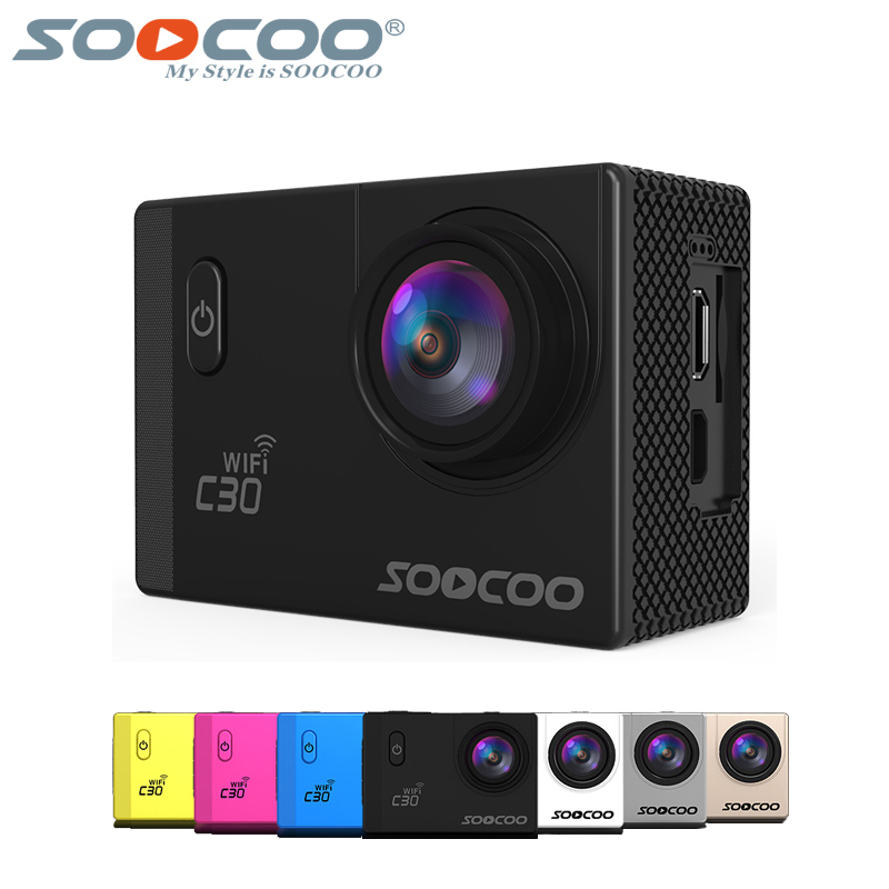 SOOCOO C30 action camera sport cam Wifi 4K Gyro Adjustable 170 Degrees lens 2.0 LCD NTK96660 Diving outdoor DV 30M Waterproof стоимость