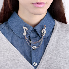 Shirt Collar Brooch Chain