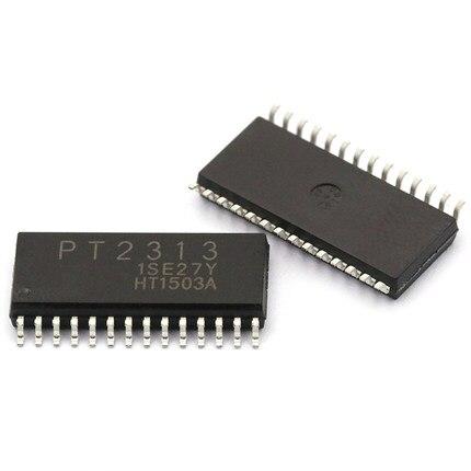10 PCS PT2313L SOP28 PT2313 2313L Volume Controller,4-Channel Audio Processor IC