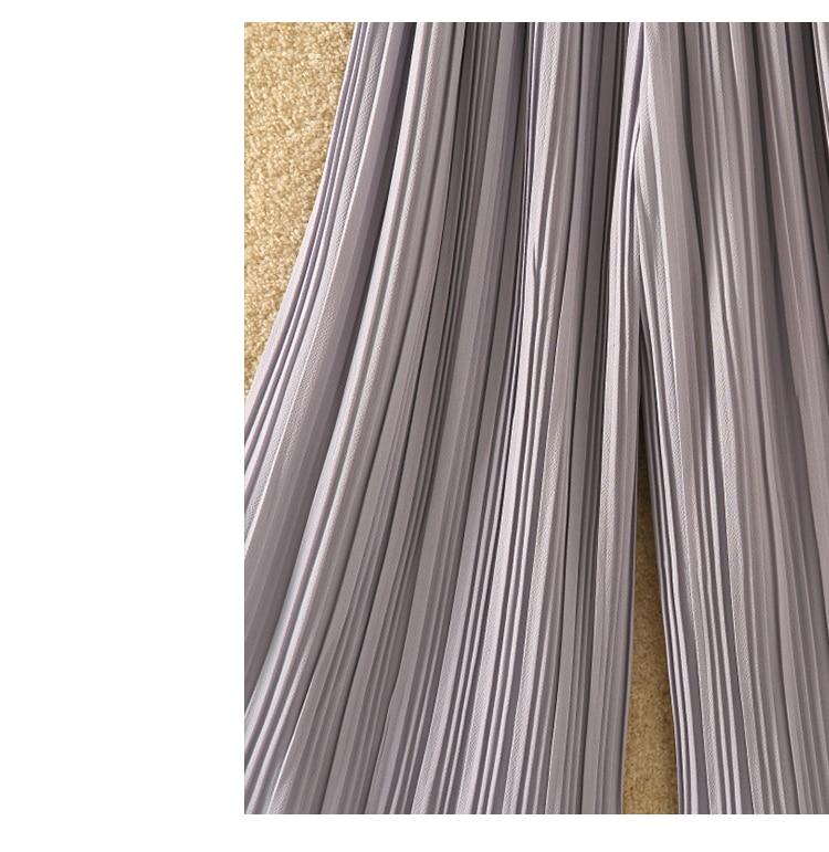 Ruffle Trousers for Women High Waist Wide Leg Chiffon Loose Pants Female Casual Large Sizes Clothes Korean Autumn 10