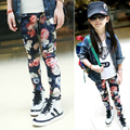 Boa Venda 6-16Years de Idade Meninas Floral Legging Primavera/Outono Boa Elástica Crianças Leggings Moda Skinny Pant
