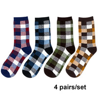NXY Western Winter Socks For Men High Quality Comfort 4 Pairs Set Men S Gift Soft
