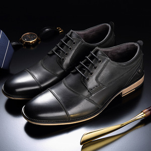 Image 5 - Brand Men Shoes Top Quality Oxfords British Style Men Genuine Leather Dress Shoes Business Formal Shoes Men Flats Plus Size 50