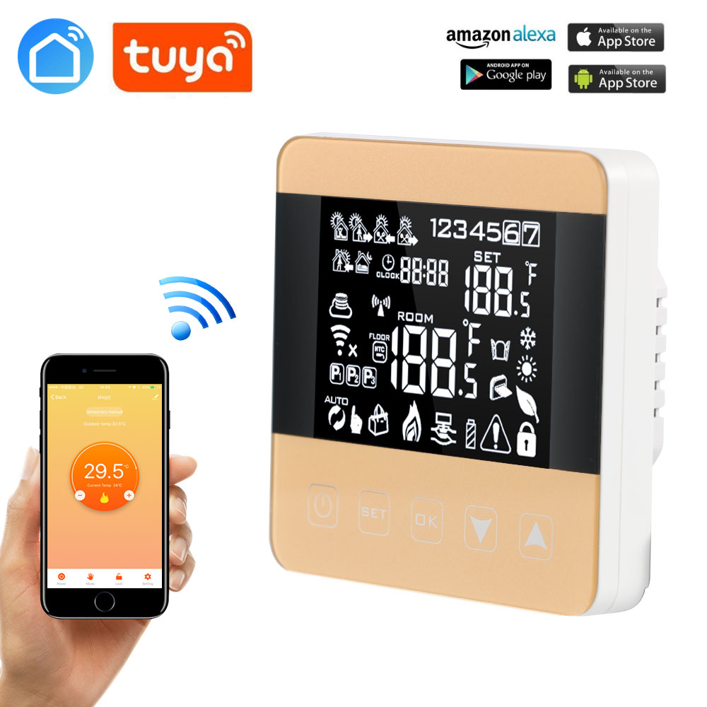 LIFE TUYA GOOGLE HOME Alexa LCD Display Heating Thermostat TouchScreen Room Temperature Controller Programmable Underfloor