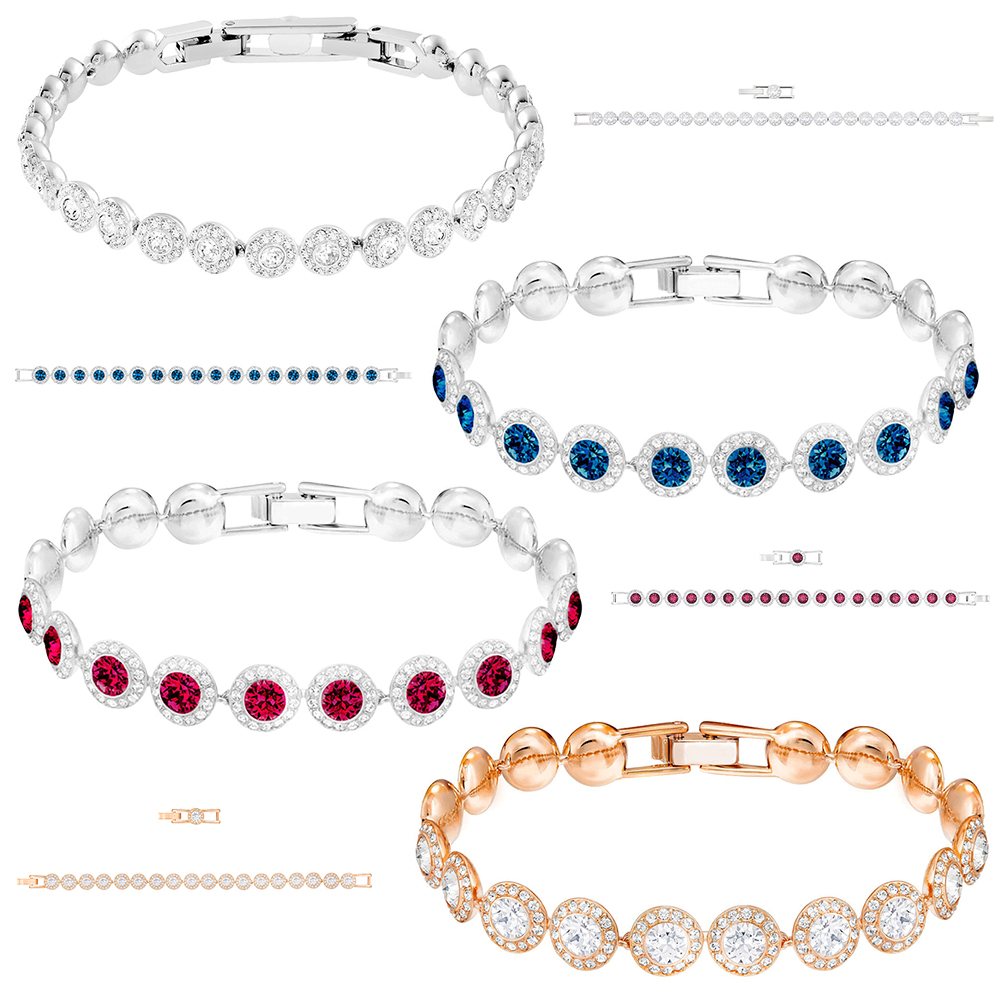 SWA RO New ANGELIC Bracelet Shine Blue Red Rose Gold Clear Crystal Original 1:1 For Mom Girlfriend Send Romance Jewelry GiftsSWA RO New ANGELIC Bracelet Shine Blue Red Rose Gold Clear Crystal Original 1:1 For Mom Girlfriend Send Romance Jewelry Gifts