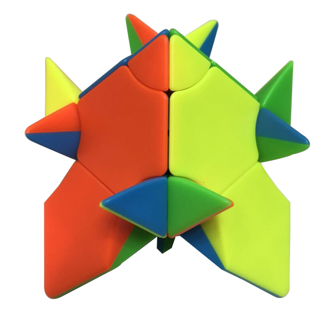 Fangshi Lim 2x2 Changeable Pyramid Octahedron Magic Cube Puzzle Toy - Colorful