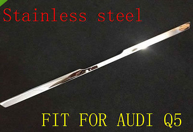 Stainless steel rear TRUNK LID STRIP TRIM for audi q5 2009 2010 2011 2012 car auto accessories rear trunk molding lid cover trim rear trunk trim for nissan sunny versa 2011 abs chrome 1pc per set