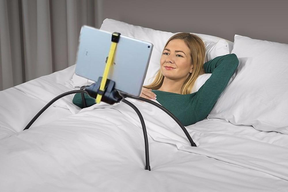 bed tablet stand flexible spider lazy bracket angle adjustable mobile phone folding holder for. Black Bedroom Furniture Sets. Home Design Ideas