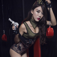 New Camouflage Suit Erotic Lingerie Sexy Army Costume Entice Nightclub Wear Lingerie Sex Clothing Fun Police Cosplay Uniforms