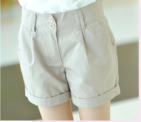 New 2018 women   shorts   summer straight   shorts   slim plus size casual   shorts   women