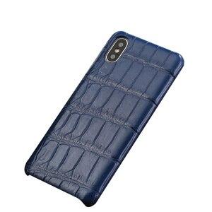 Image 4 - LANGSIDI Luxury Original Crocodile phone case for iphone 12 pro 12 mini X XS max XR 7 8 plus SE 2020 for iphone 11 pro max