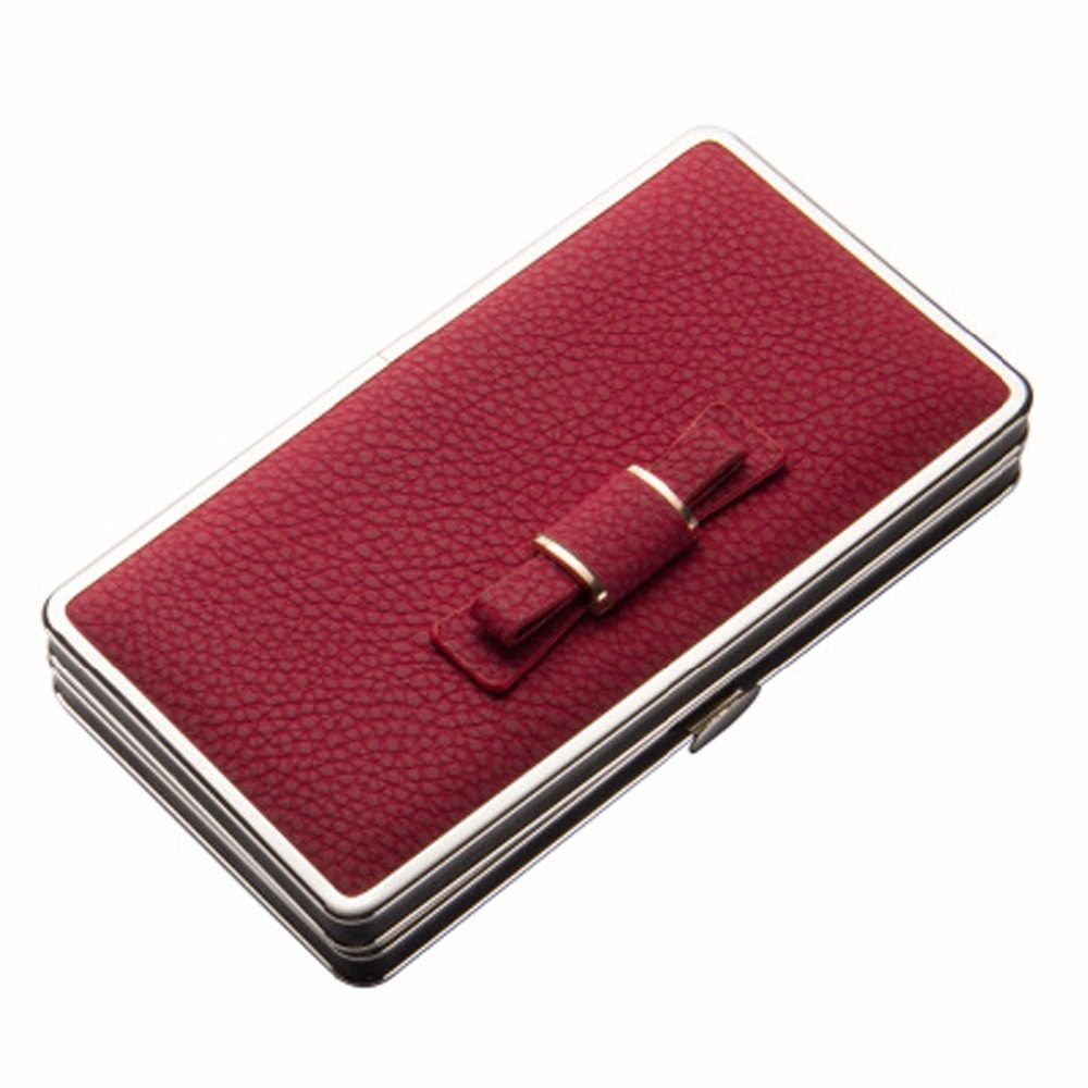 New Luxury PU leater Women Casual Wallet Metal Side Leather Cellphone Case Bag Bow Money Female Coin Purse Clutch Wallet 860