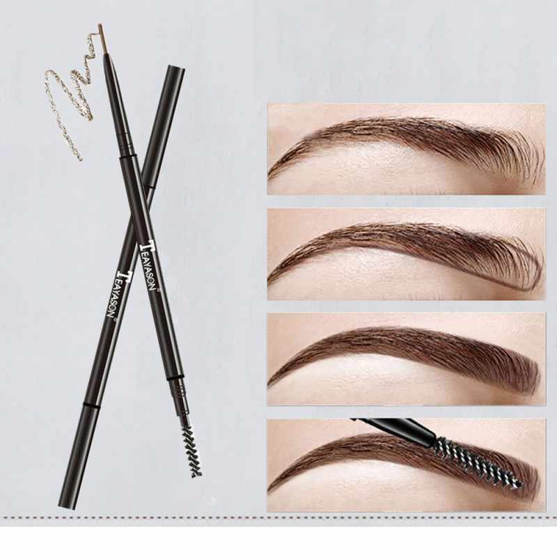Eyebrow Pencil Tint Cosmetics Long Lasting Natural Painted Tattoo Eyebrow Brown Black Eyebrow Pencil Eyes Makeup Set cejas