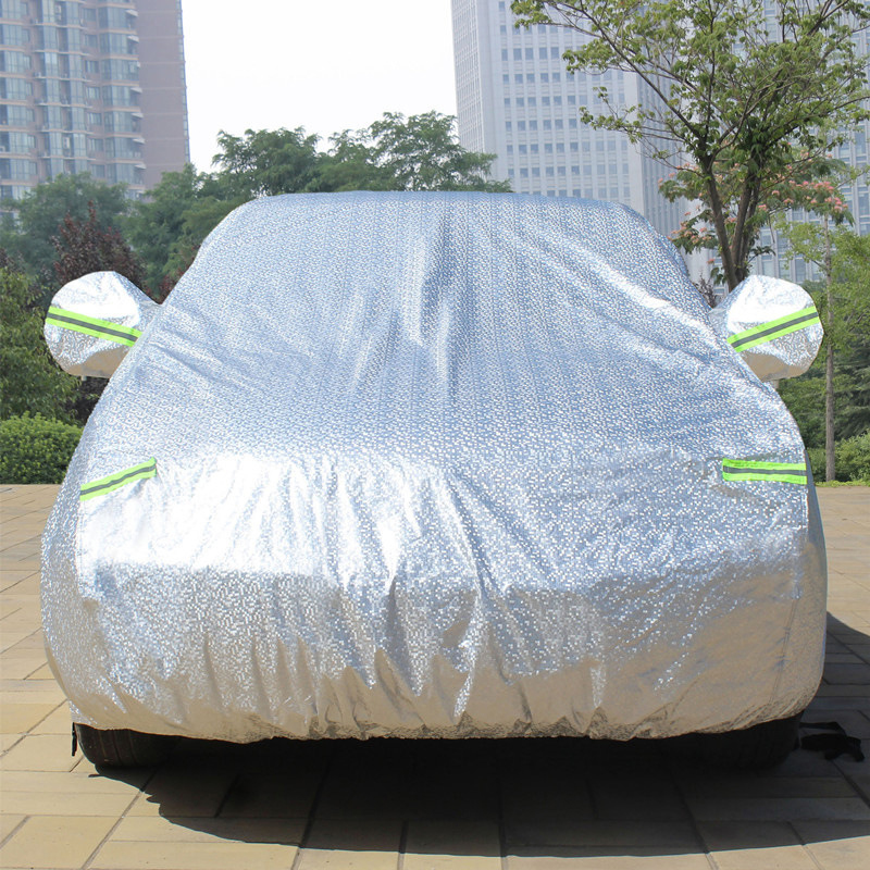 TENGRUI Double-Deck Thicken Waterproof Car Covers for VW Polo golf jetta Passat To Protect Car From The Snow Universal