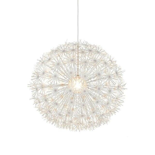 Maskros Pendant Lights White Stainless Steel Flowers Pendant Lamp For  Living Room Reataurant Suspension Lighting Fixtures