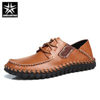 URBANFIND Patchwork Design Men Fashion Oxfords Size 38 44 Man Leather Casual Shoes Lace Up Footwear