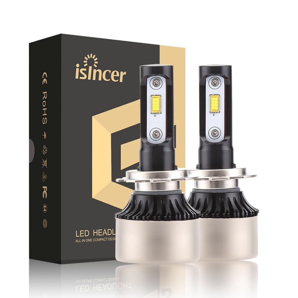 2 pz 12 v 24 v Auto Faro H4 LED H7 H1 H11 8000LM 80 w Auto Faro 6000 k lampadina Auto Del Faro Lampade Per Auto Styling