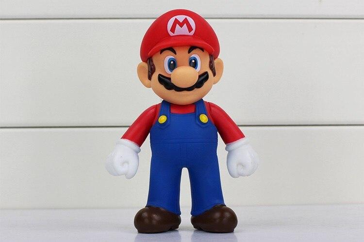 4pcs/lot 13cm Super Mario Bros Luigi Mario PVC Action Figure Toy Doll Cute Gifts For Children Kid 3