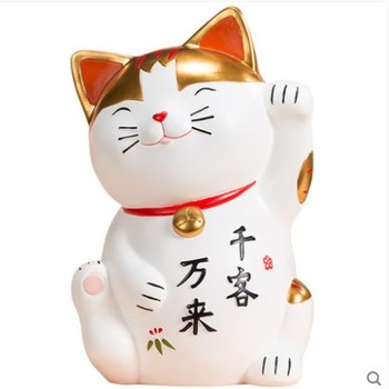 Cute Lucky Cat Large piggy bank Creative shop coin change Piggy bank Fashion holiday gifts Ornaments