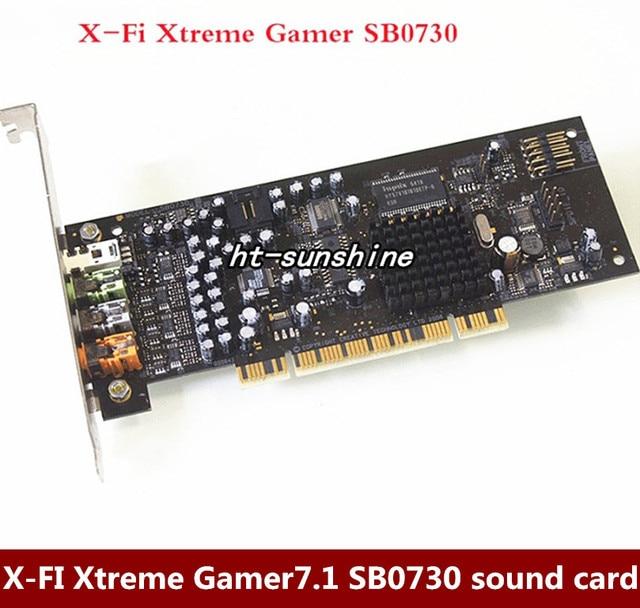 Оригинал, в разобранном виде, X-FI Xtreme Gamer7.1 звуковая карта SB0730 поддержка WIN7, 100% работает хорошо