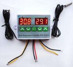 AC 220V 12V 24V Digital LED Dual Thermometer Temperatur Controller Thermostat Inkubator Steuerung Mikrocomputer Dual-Sonde