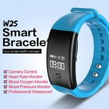 IP67 Водонепроницаемый крови кислородом SmartBand W2S Bluetooth Smart Браслет с монитор сердечного ритма шагомер Sleep Monitor