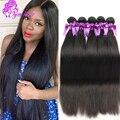 Indiano Virgem Cabelo Liso cabelo humano macio 10A Cabelo Indiano Virgem Não Processado 3 Pacotes de Extensões de Cabelo Humano Atacado