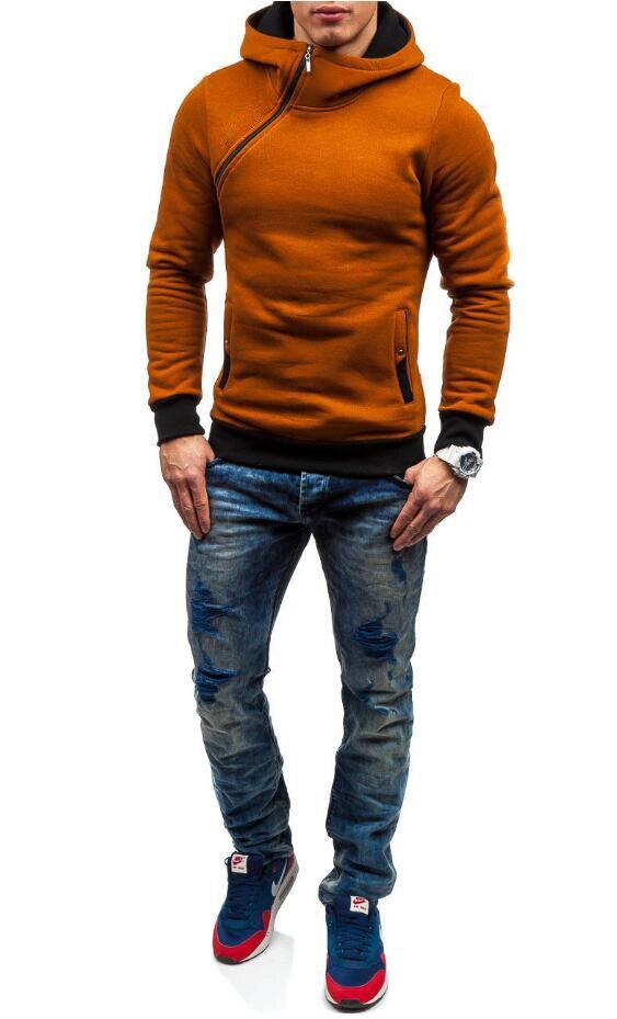 HEYKESON Brand 2017 Hoodie Oblique Zipper Solid Color Hoodies Men Fashion Tracksuit Male Sweatshirt Hoody Mens Purpose Tour XXL HEYKESON Brand 2017 Hoodies, with an chest Zipper HTB1hv6PSFXXXXcwXpXXq6xXFXXXe