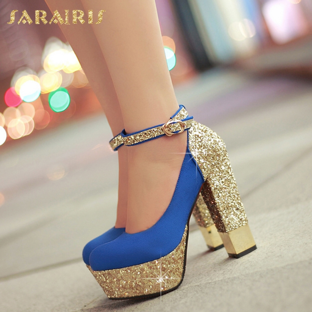 SARAIRIS 2018 Large Size 32-43 Bling Upper Brand Women Pumps Shoes High Heels Sexy Party Wedding Bride Woman ShoesSARAIRIS 2018 Large Size 32-43 Bling Upper Brand Women Pumps Shoes High Heels Sexy Party Wedding Bride Woman Shoes