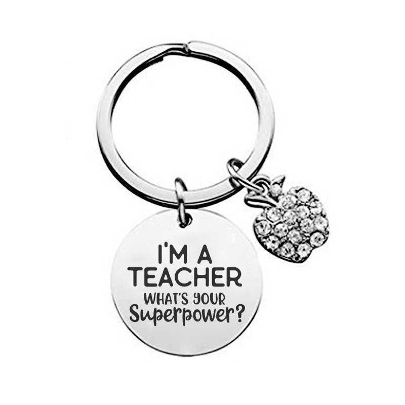 ครูพวงกุญแจอย่างแท้จริงครูHard To Findจี้Keyringเครื่องประดับสำหรับครูของขวัญวัน