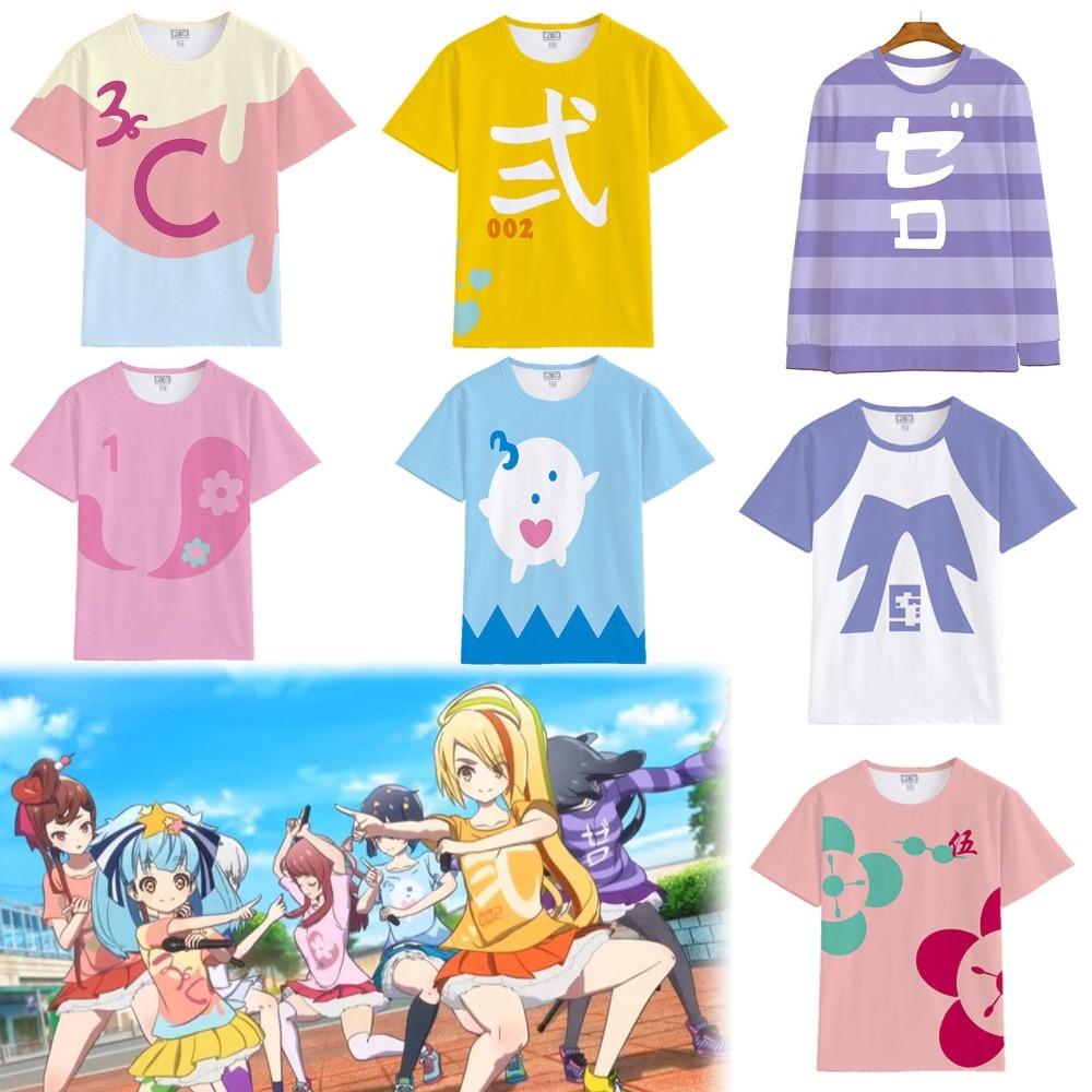 Anime Zombieland Saga Sakura Minamoto Konno Junko Cosplay Costume T-shirt Top Sweatshirts Sweater
