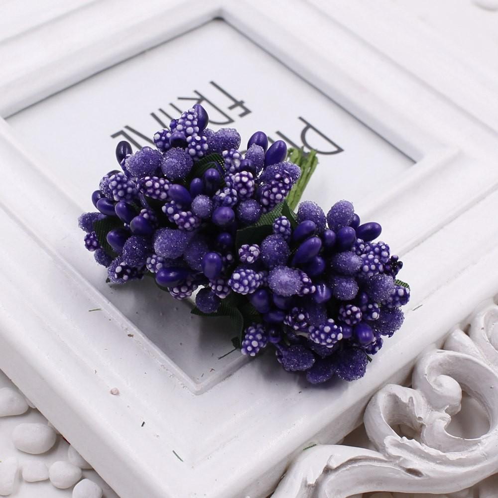 16 12pcs Berry Artificial Stamen Handmade Flower For Wedding Home Decoration Pistil DIY Scrapbooking Garland Craft Fake Flower 16