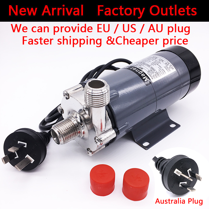 HomeBrew Beer Pump MP- 15R Food Grade 304 Stainless Steel Brewery Home brew 220V Magnetic Drive Water Pump 1/2BSP EU/US/AU Plug the whole set food grade 220v electric pumping wine pump