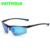 Veithdia marca de alumínio e magnésio óculos de sol dos homens polarizados azul revestimento do espelho de condução óculos de sol óculos acessórios para homens