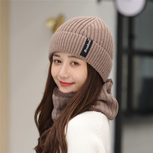 цены 2018 Beanies Hats Scarf Set for Men Women Winter Knitted Hat Cap Women Solid Casual Unisex Hip-Hop Cap Beanie Warm Hat Gorro