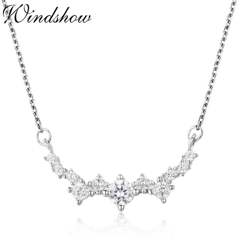 925 Sterling Silver Cluster Necklace Pendant Gift Boxed Womens Girls Cute