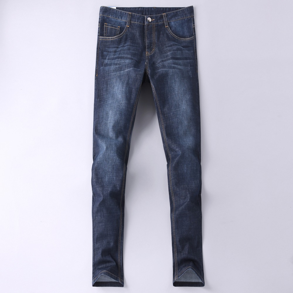 Men Jeans Pants 2018 New Arrival Mens Fashion Quality Business Casual Stretch Slim Jeans Classic Trousers Denim Pants Male 2241
