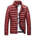 Мужчины Причинно Стенд Воротник Куртки мужские Пальто Теплое Верхней Одежды Slim Fit Ветровка Пальто Мужская Мода Твердые Пальто